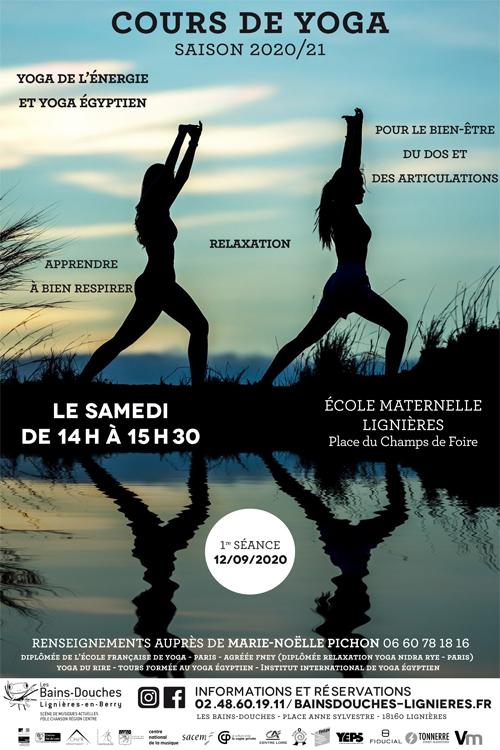 Affiche Cours de Yoga