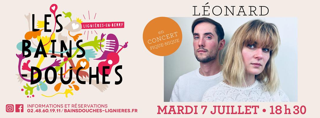 Léonard en concert les 7 juillet 2020