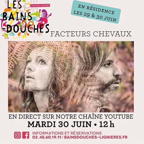 Facteurs Chevaux en direct sur Youtube le 30/06/20 à 12h00