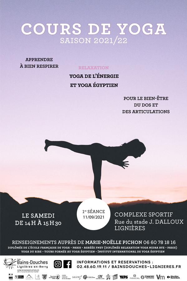Cours de Yoga - Saison 2021-2022