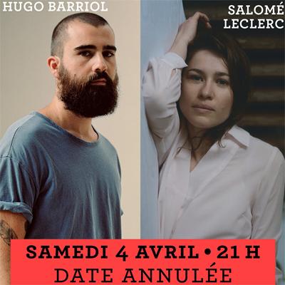 Hugo Barriol / Salomé Leclerc - 4 Avril Annulé